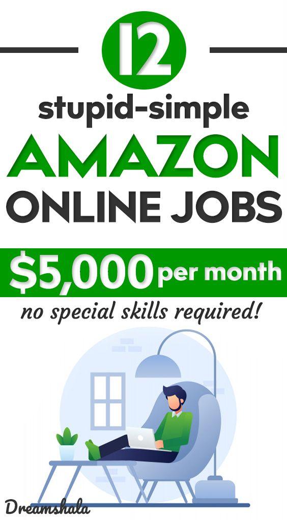 Amazon Work From Home Jobs 12 Epic Jobs To Try In 2020 In 2020 Amazon Online Jobs Money Making Jobs Online Jobs