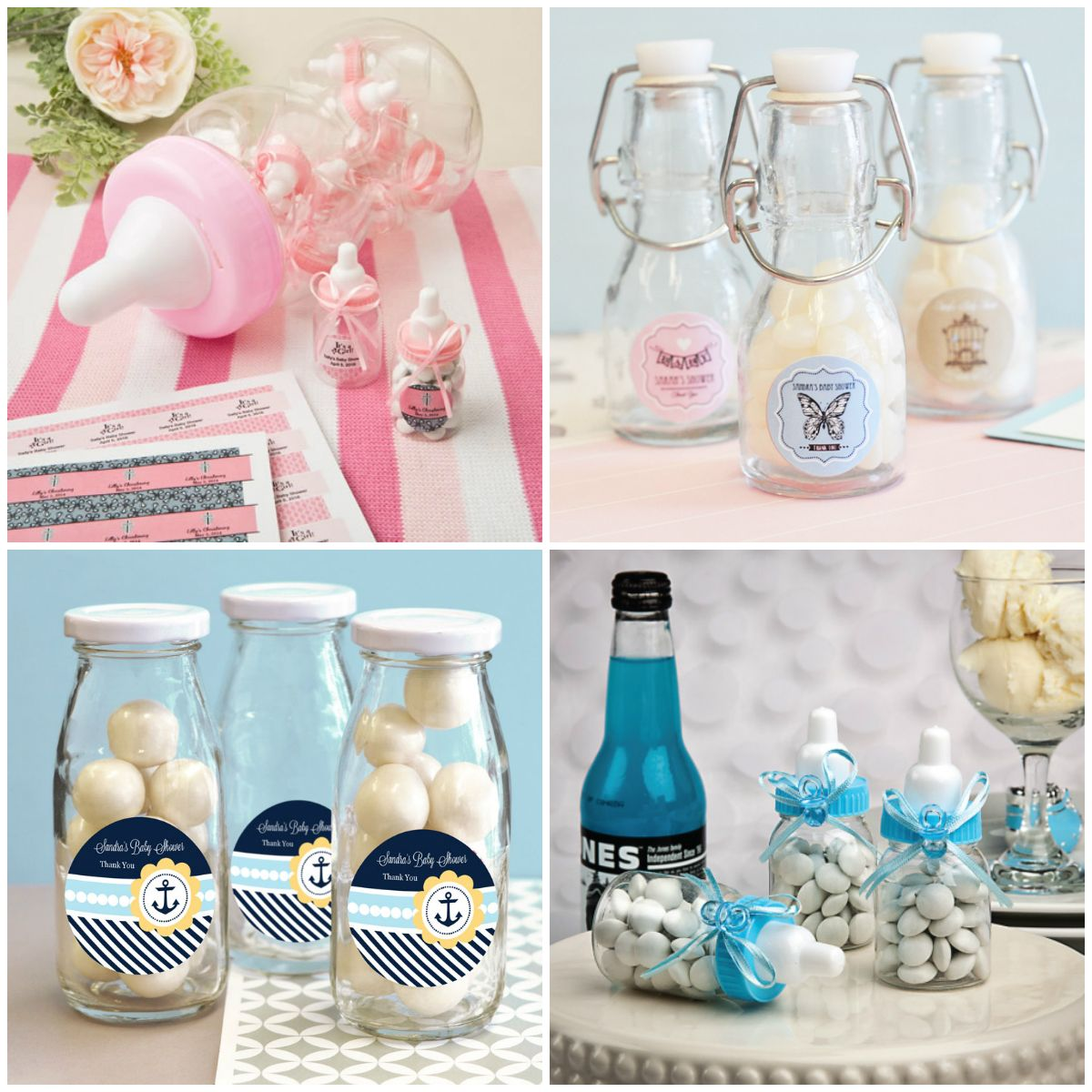 Baby Bottle Party Favors for Baby Shower from HotRef