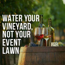 Water Your Vineyard, Not Your Event Lawn is part of Grass lawn Water - Learn how a beautiful artificial grass lawn at your event venue can help increase your profitability while saving you time and money