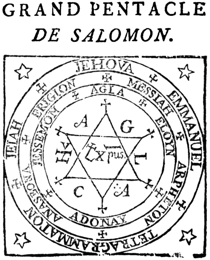 Le Grand Pentacle De Salomon Un Porte Chance Comment Avoir De La Chance Contre La Malchance Pentacle Seal Of Solomon Protection Symbols
