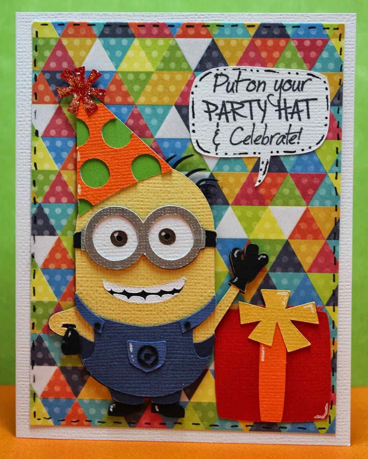 Миньон открытка с днем рождения своими