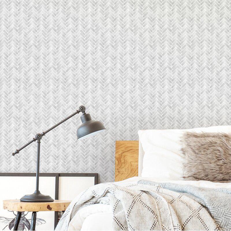 Bissett Watercolor Herringbone Paintable Peel And Stick Wallpaper Panel Wallpaper Panels Herringbone Wallpaper Peel And Stick Wallpaper