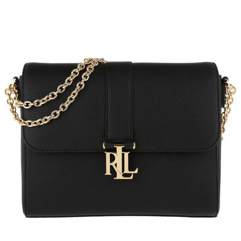 Lauren Ralph Lauren Lauren Ralph Lauren Tasche Gabbi Shoulder Bag Black In Schwarz Umhangetasche Fur Damen Ralph Lauren Taschen Taschen Umhangetasche