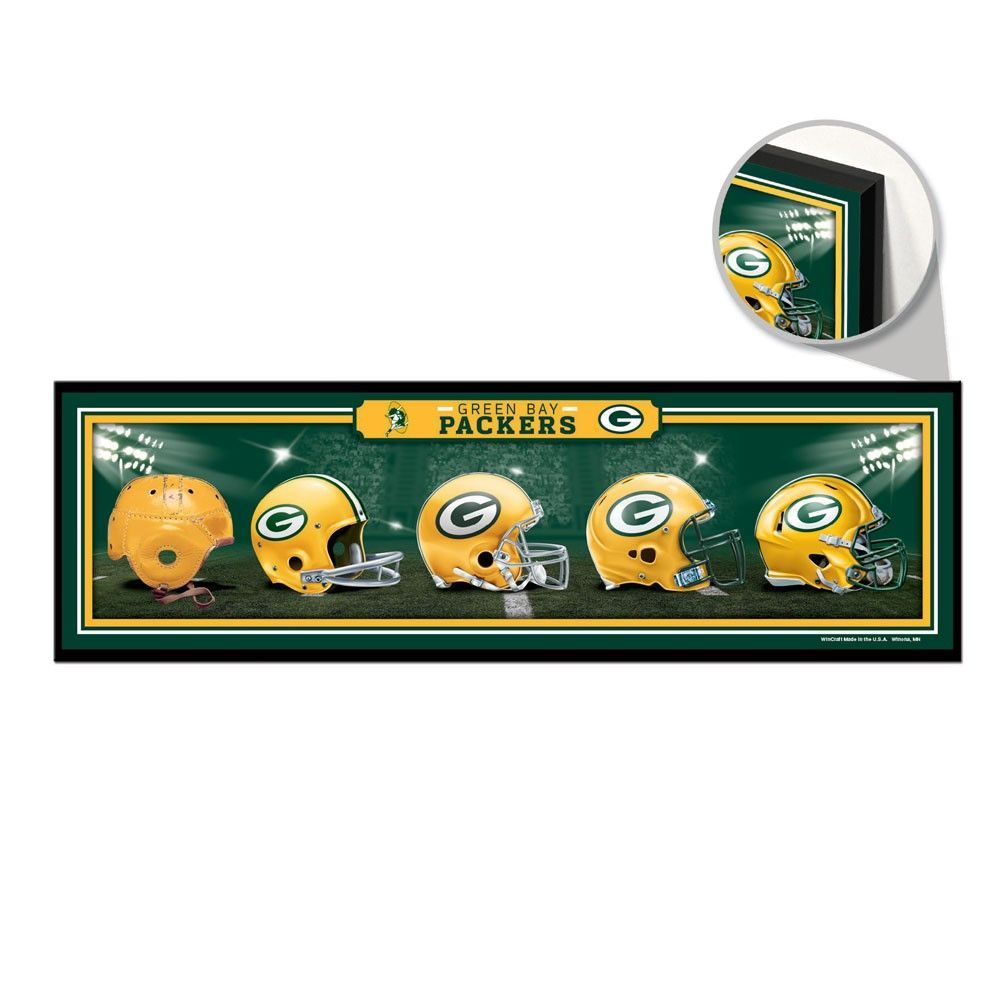 Green Bay Packers Helmet Evolution Sign Green Bay Packers Helmet Green Bay Packers Green Bay Packers Clothing
