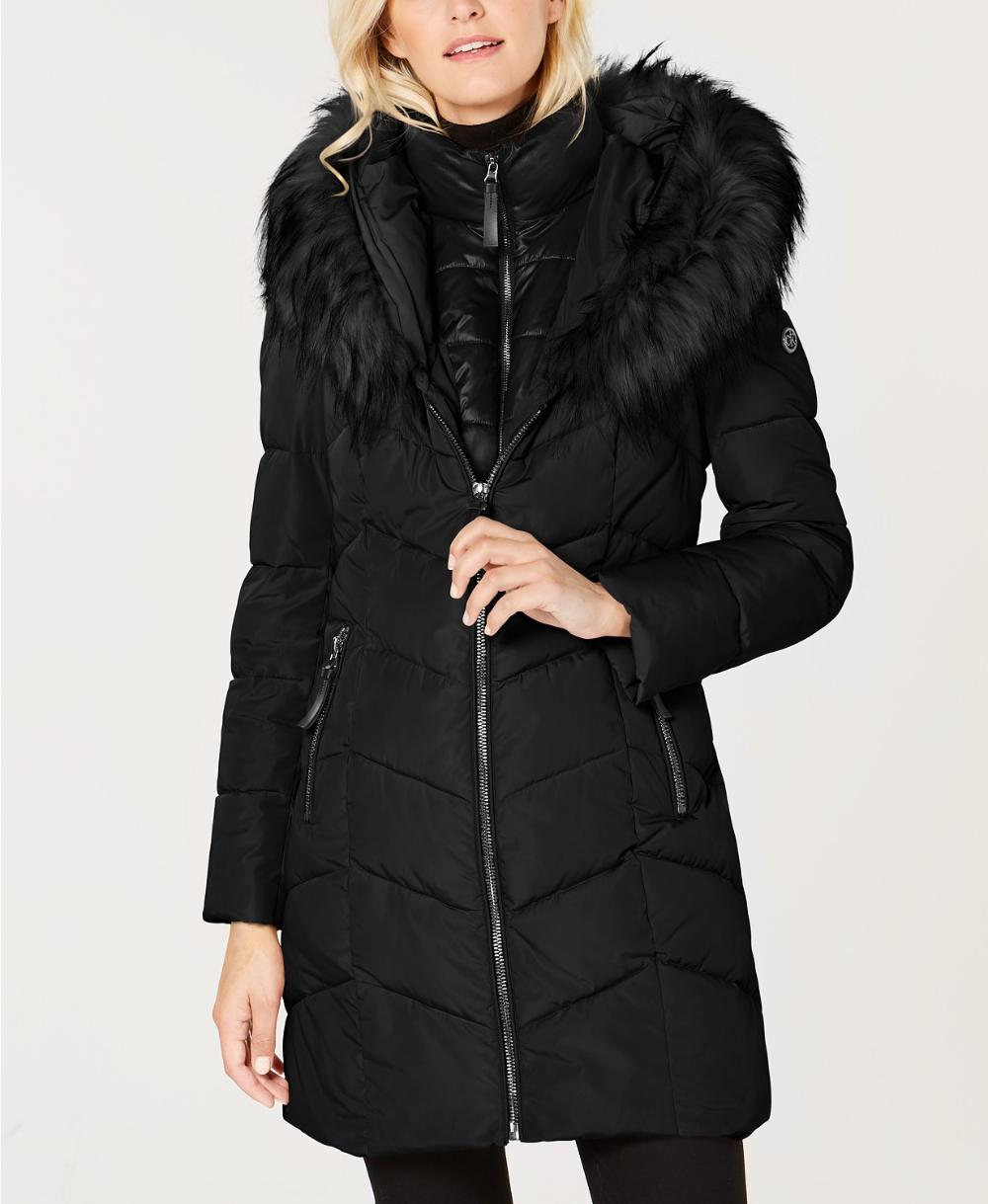 Calvin Klein Petite Faux Fur Trim Hooded Puffer Coat Reviews Coats Petites Macy S Women S Puffer Coats Puffer Coat Hooded Faux [ 1219 x 1000 Pixel ]