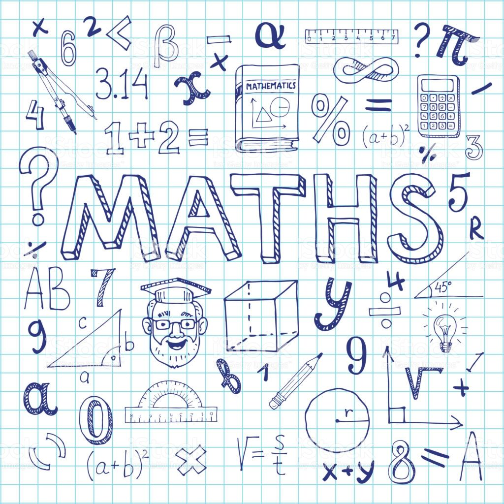 Maths Hand Drawn Vector Illustration With Doodle