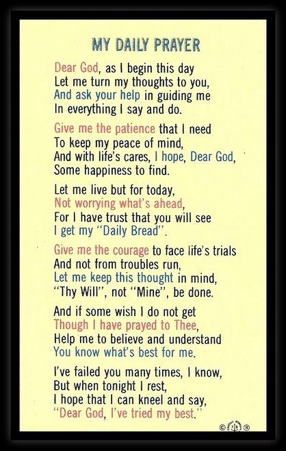 Dear God, as I begin this day      Faith   Daily prayer