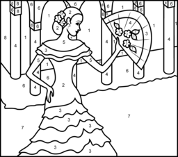 a8174581ab73744d5480d7648c863987 princess of spain printable color by number page clases de on color by number spanish coloring page