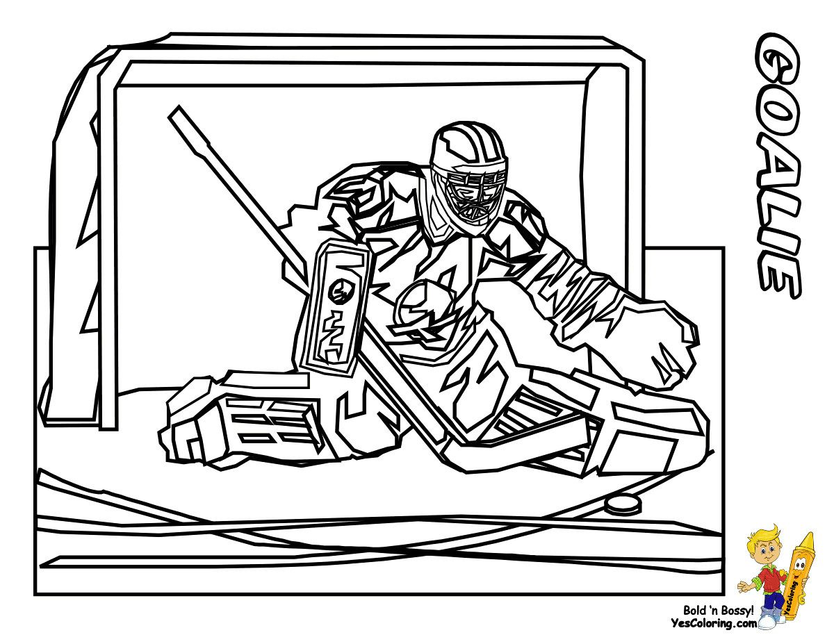 Little Duck Hockey Player Coloring Page Pages Flowers And Hearts For ...