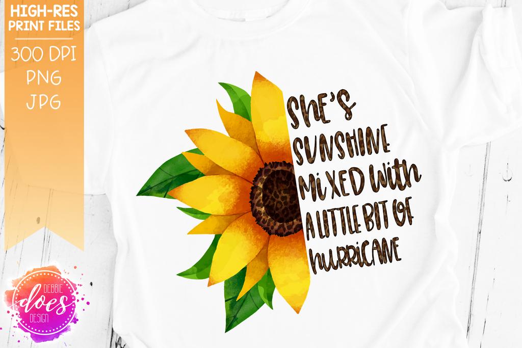 Little bit of Hurricane - Sunflower - Sublimation ...