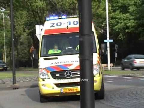 Ambulance Bergen op Zoom 20 104 A1 Jan Derckstraat (+afspeellijst)