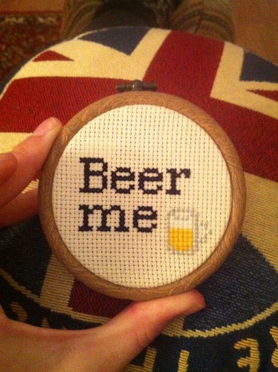 beer me cross stitch