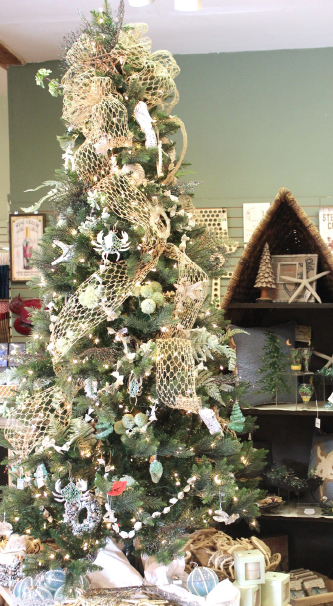 Coastal Themed Christmas Tree, Ornaments and Decor. The Christmas Shop at  River Hill Garden - Coastal Themed Christmas Tree, Ornaments And Decor. The Christmas