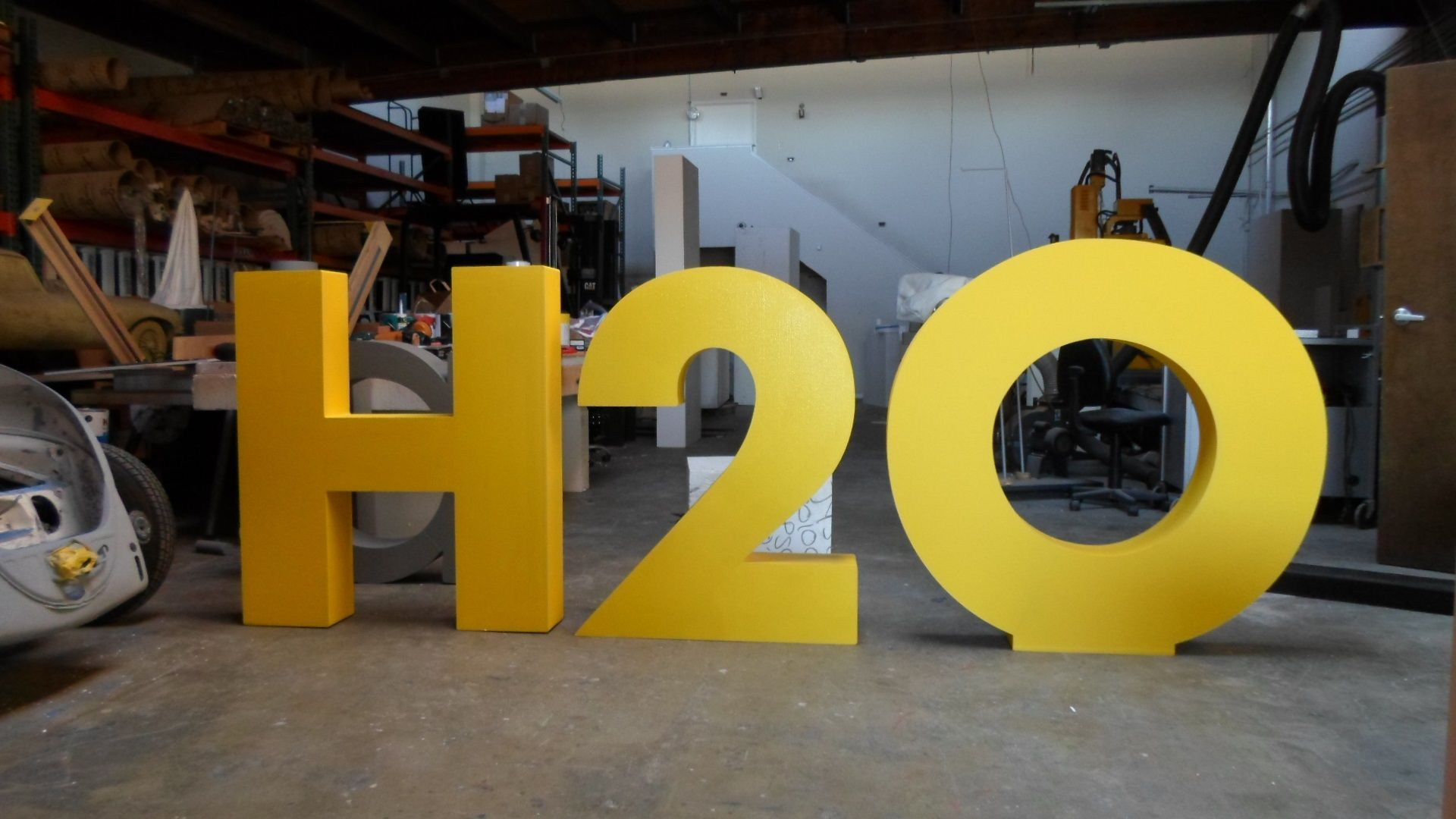 Foam letters and numbers sign logo by