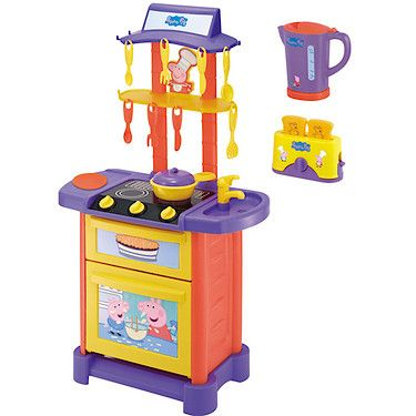 Peppa Pig Kitchen Playset With Kettle Toaster Perfect