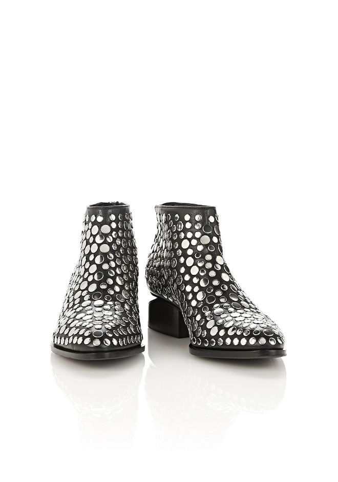 1296258114f6a ALEXANDER WANG STUDDED KORI OXFORD WITH RHODIUM BOOTS Adult 12 n a ...