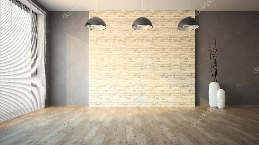 Empty Room Whith Brick Wall Stock Photo Affiliate Whith