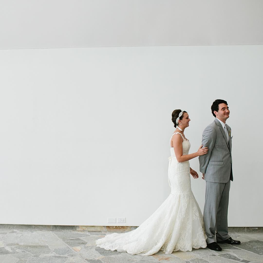 First looks are so so sweet. When considering the pros and cons of doing one be sure to talk to your planner and photographer about the overall timing of your wedding day to see how it may fit in.  Photo by @morgantrinker.