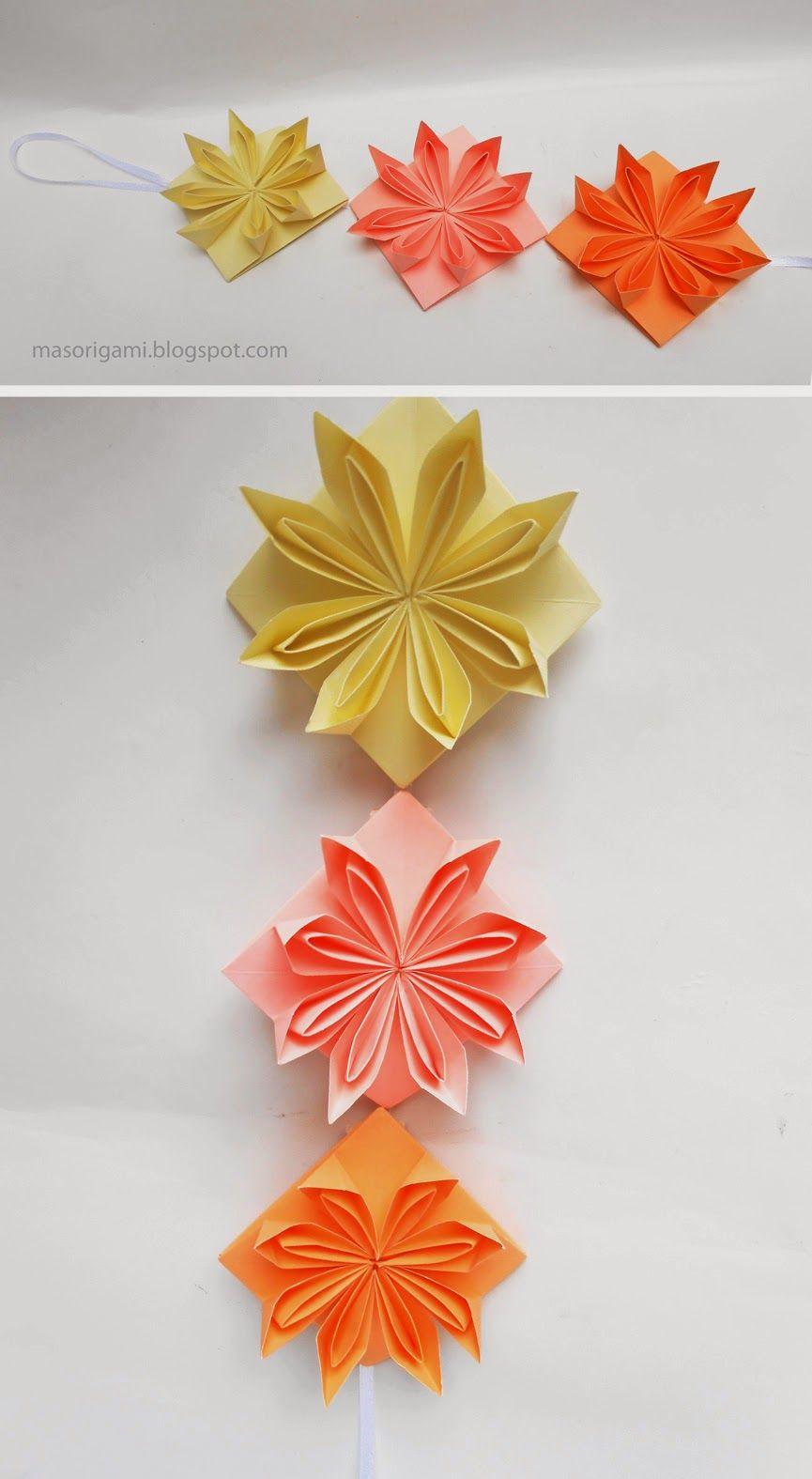 mas origami | origami flowers | Pinterest | Origami, Origami ...