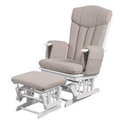 Kub Chatsworth Glider Nursing Chair And Stool Cappuccino Cushion