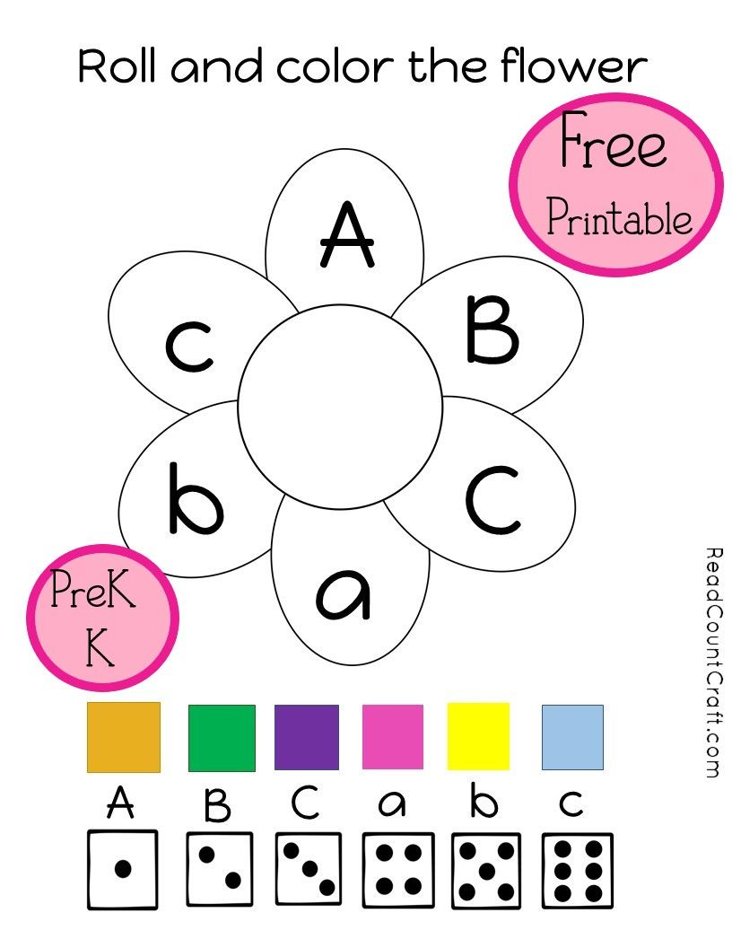 Roll And Color An Abc Flower Preschool And Kindergarten Math Game Kindergarten Math Kindergarten Math Games Preschool Math Games [ 1056 x 816 Pixel ]