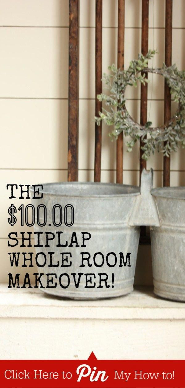 Farmhouse living room and dining room shiplap makeover for a hundred bucks Its possible to get the farmhouse shiplap style with REAL wood for cheap Check out our tips tri...