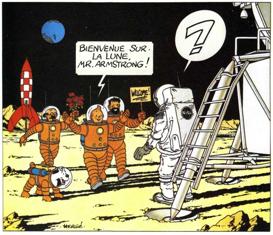on a marche sur la lune tintin histoire des arts