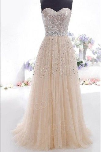 dress prom dress peach glitter long prom dress glitter. Black Bedroom Furniture Sets. Home Design Ideas