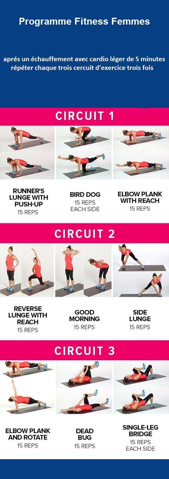 programme fitness femme maigrir