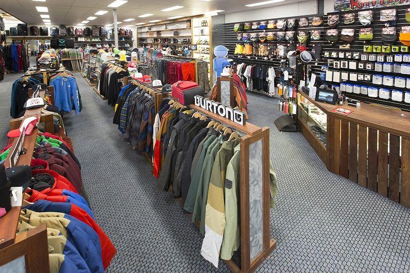 Rhythm Snowsports Retail Snowboard Section Ski hire
