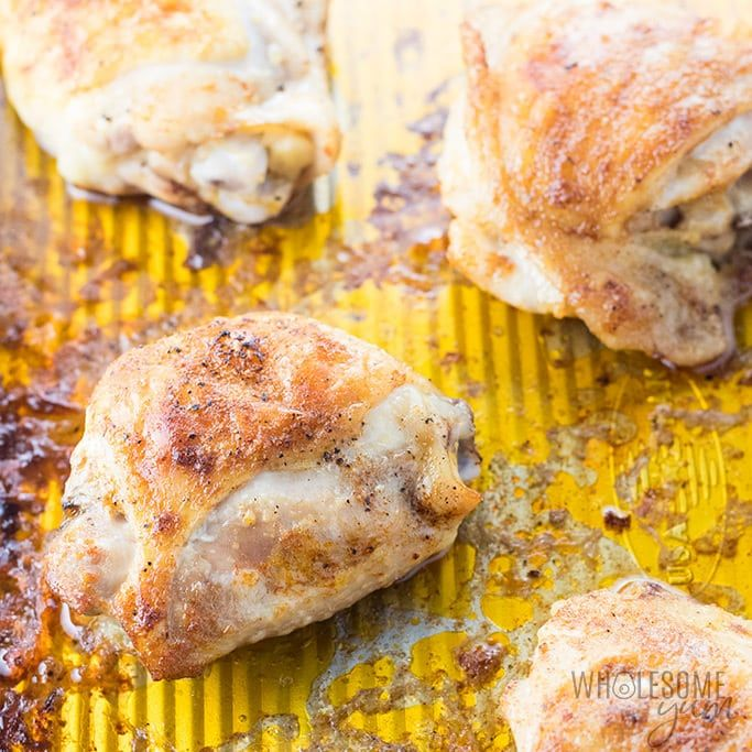 The Best, Easy Crispy Oven Baked Chicken Thighs Recipe