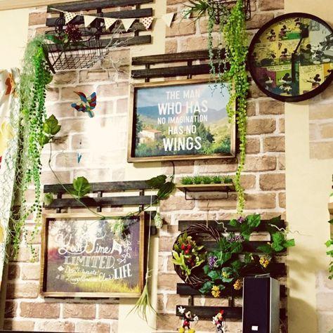 壁 天井 フェイクグリーン 観葉植物 ダイソー Diy などのインテリア