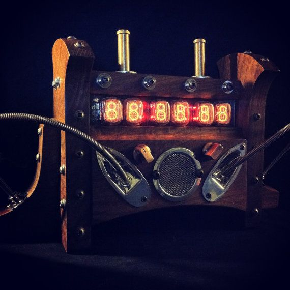 Steampunk Nixie Clock  Retro Tube Industrial  by TGTstudios, $1499.00
