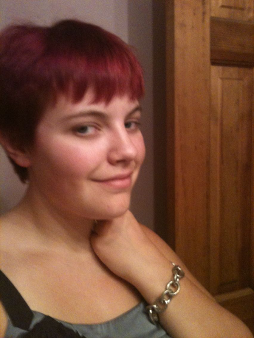 Redpink with pixie cut my hairstyle experiments pinterest