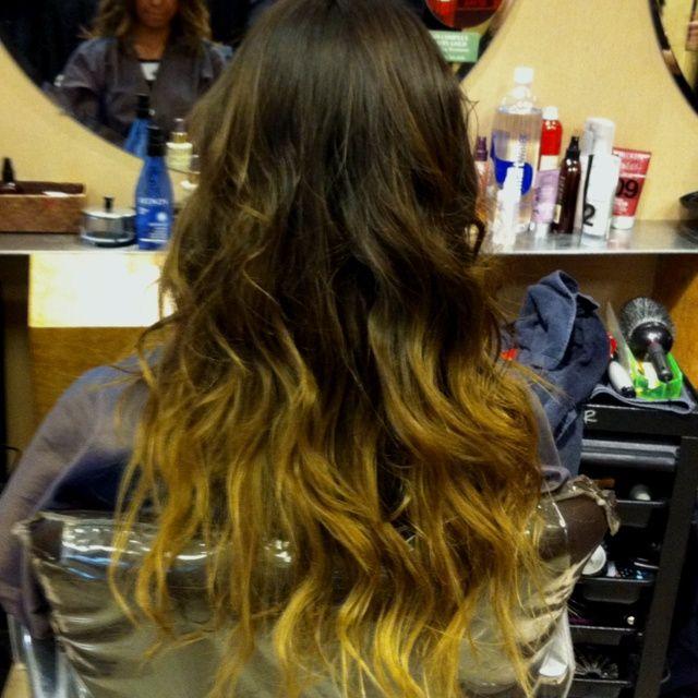 Ombr on virgin hair !!