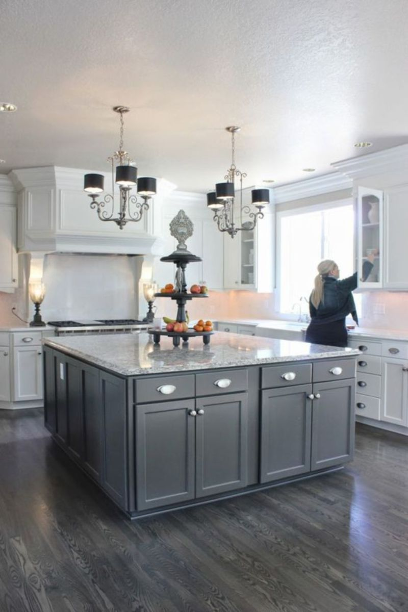 Cool Grey Kitchen Cabinet Ideas 04