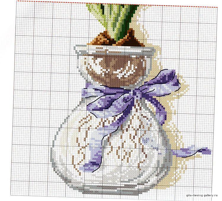 Vaso con giacinto blu (2)