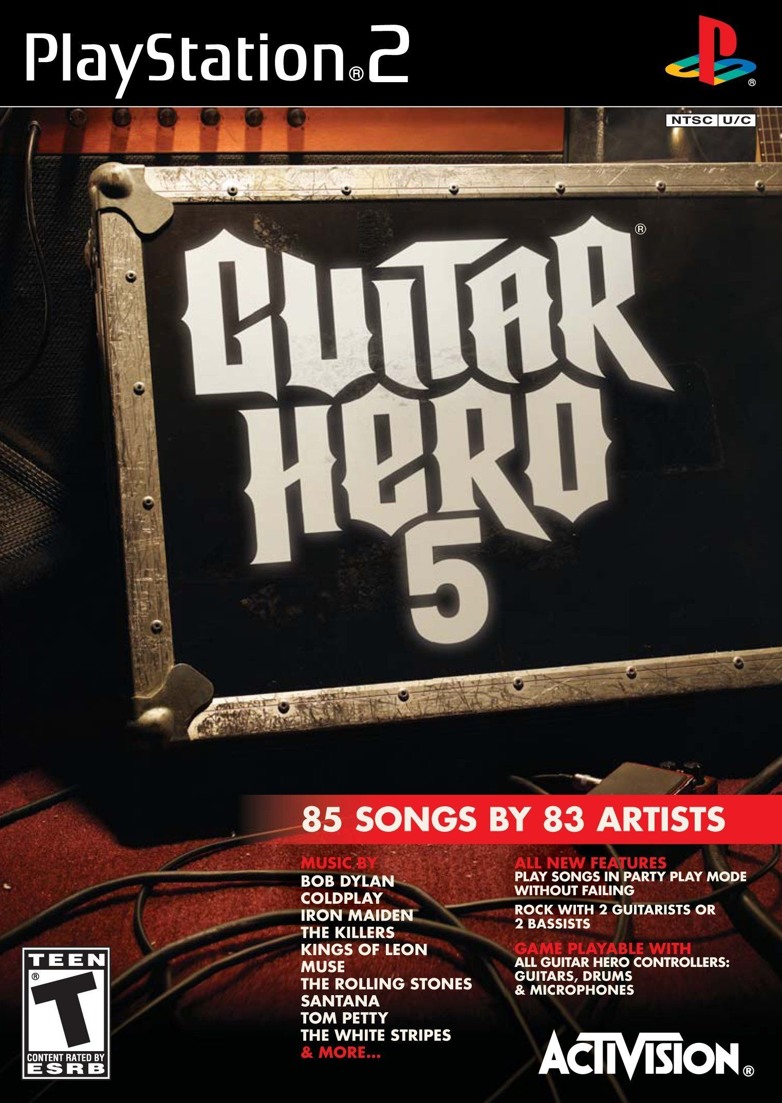 Guitar Hero 5 Stand Alone Software Playstation 2 Game Only Stand Hero Guitar Game Guitar Hero Wii Games Xbox 360