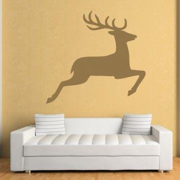 Deer Print Animals Xmas Wall Art Sticker Wall Decal   Christmas ...