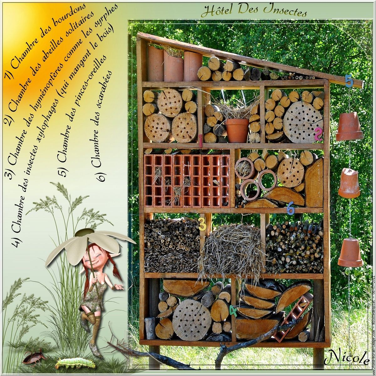 nichoir hotel des insectes gartenideen pinterest bug. Black Bedroom Furniture Sets. Home Design Ideas