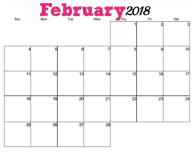 Free Printable February 2018 Desk Calendar MaxCalendars