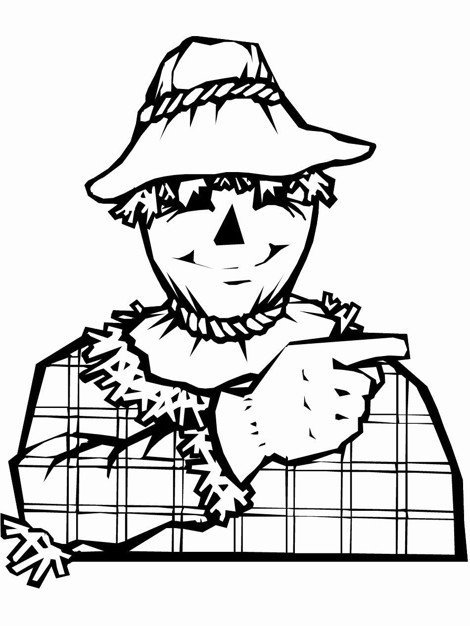Printable Scarecrow Coloring Page Luxury Coloring Pages 54