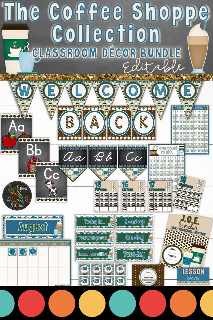 Coffee Themed Classroom Decor Bundle | Classroom Management | Back to School When it comes to classroom decorations, there are a LATTE options for teachers to choose from. This coffee themed bundle is FULL of back to school essentials for teachers to print and personalize their classroom! Click here to check out this brand new bundle of classroom decor and see how you can easily have the cutest classroom on your campus! ☕