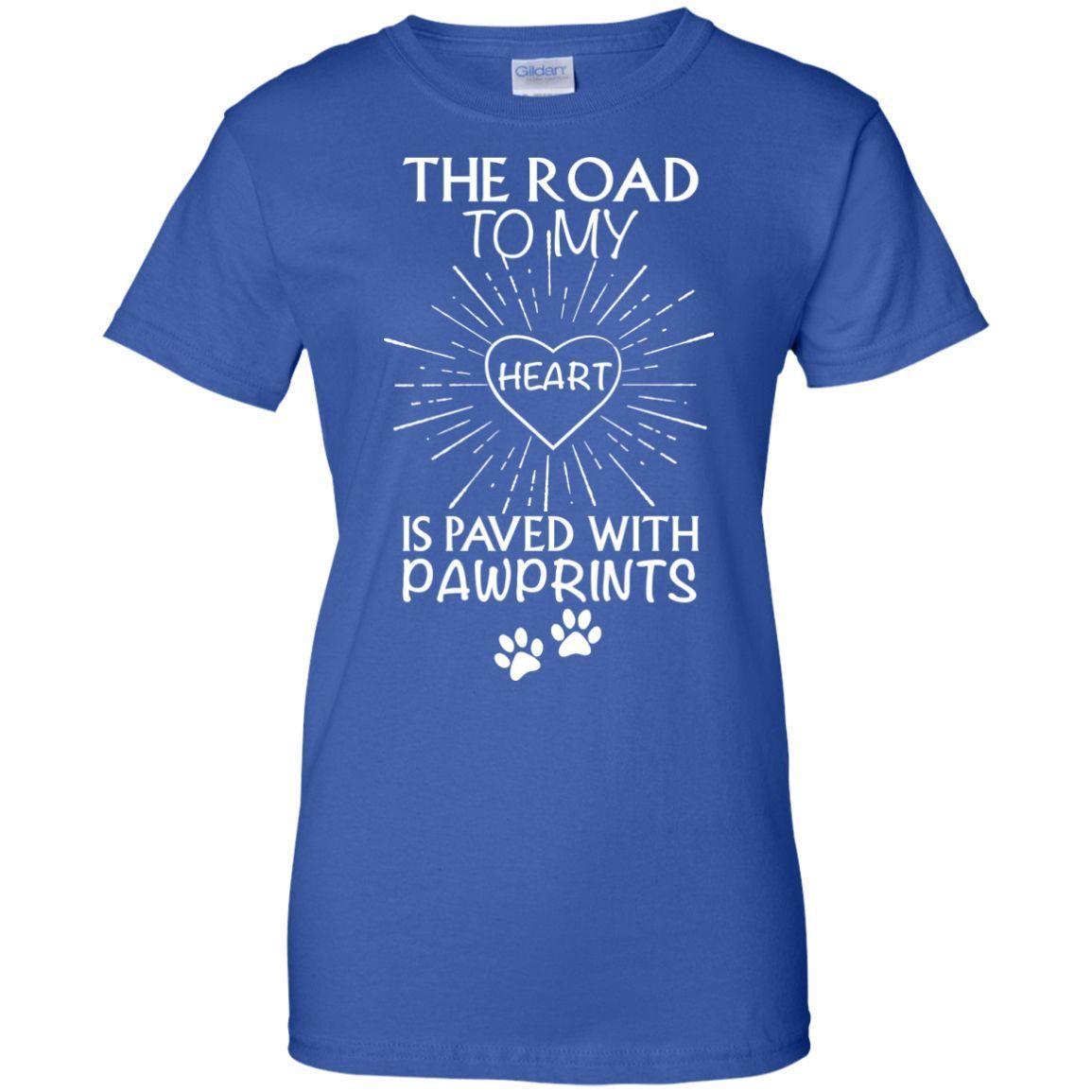Paved With PawPrints Ladies Custom T-shirt