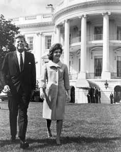 American Royalty: President John and Jackie Kennedy stroll the White House grounds.