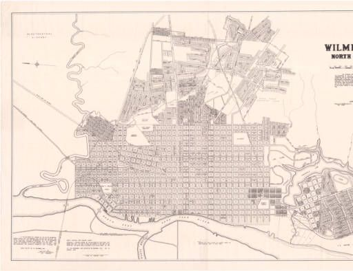 Wilmington, North Carolina. :: North Carolina Maps 1948 ... on map of historic southport nc, map of historic downtown new bern nc, map of historic downtown huntsville al,