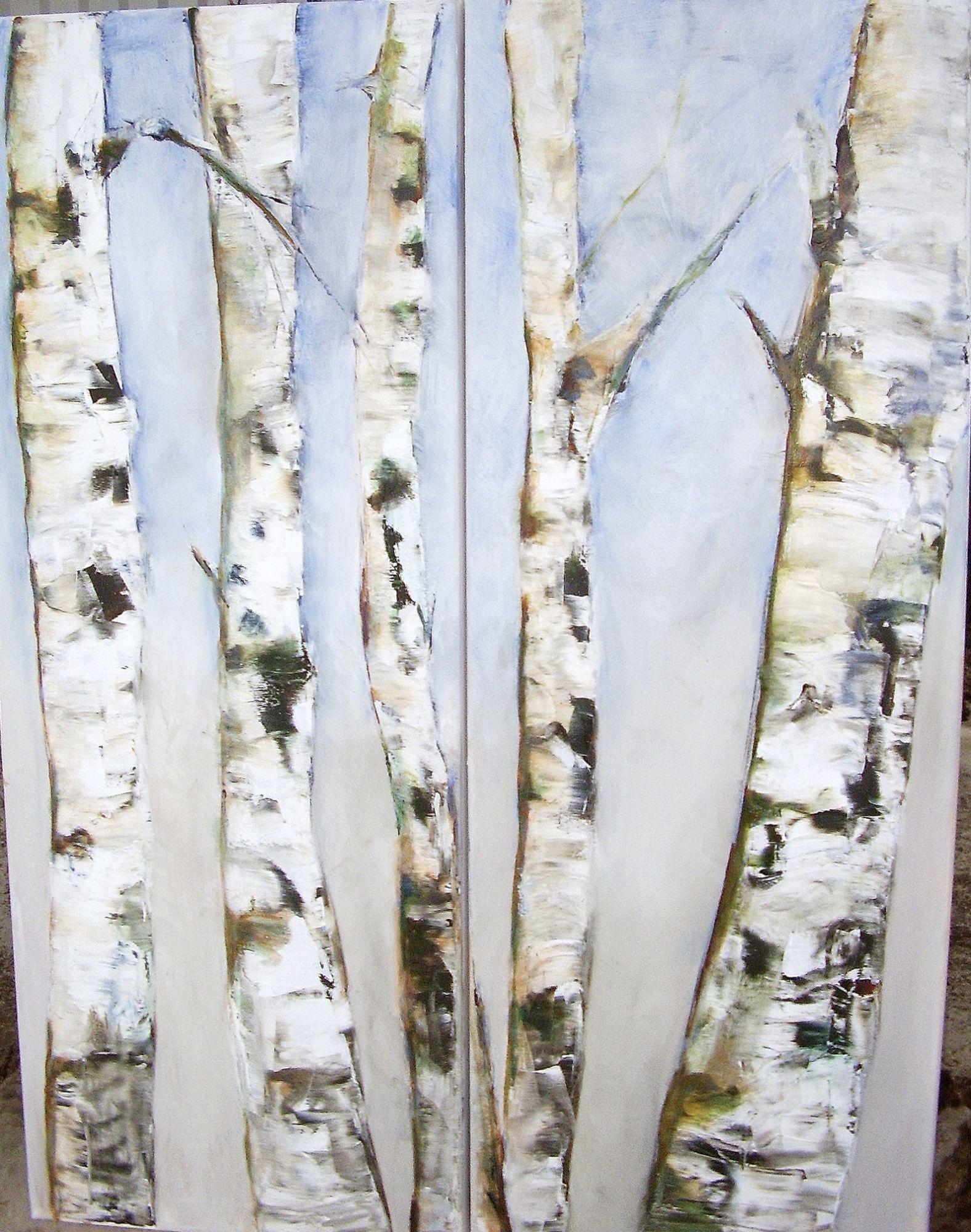 peinture: bouleaux | natures mortes | pinterest | peinture, peinture