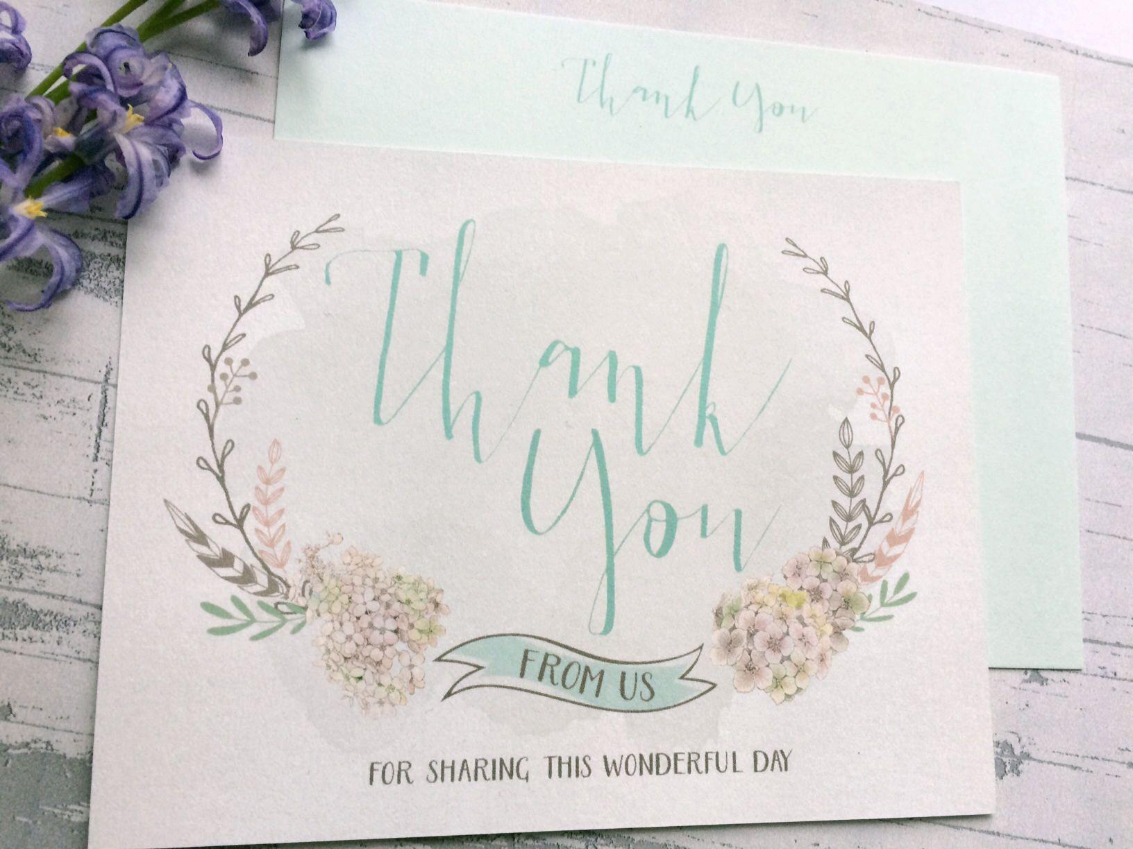 Floral thank you notes  a personal favorite from my Etsy shop https://www.etsy.com/listing/526981269/anniversary-thank-you-cards-with-white