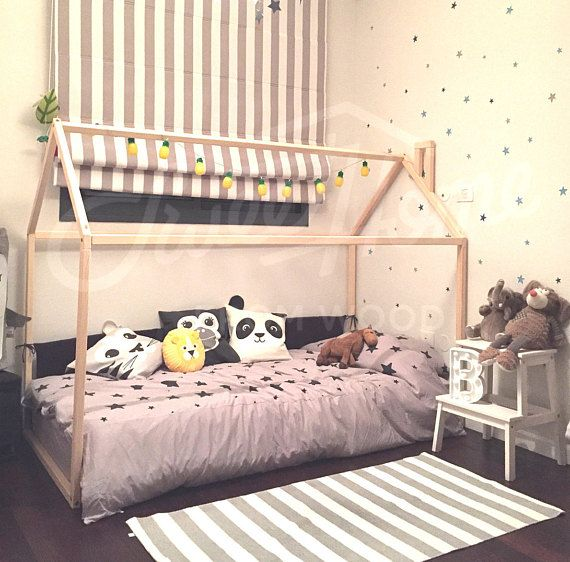 Handmade Bed Twin Wood House Bed Montessori Bed House Toddler