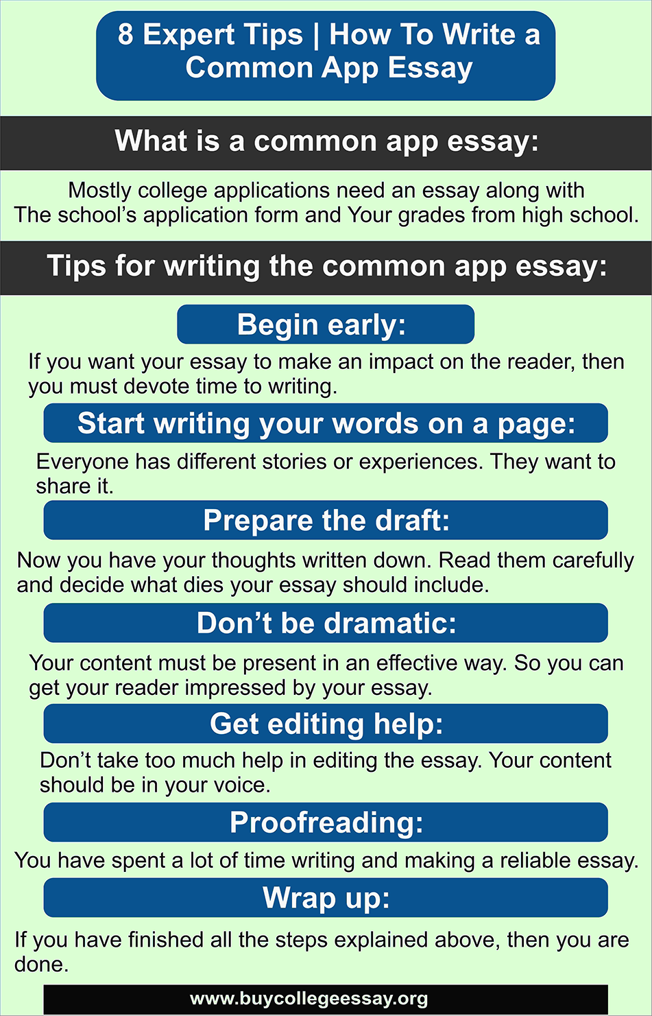 8 Expert Tip How To Write A Common App Essay In 2020 College